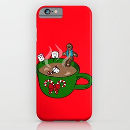 Relaxing Hot Cocoa iPhone Case