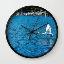Lake Maggiore near Arona and Angera Wall Clock