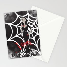 Female vampire character. Stationery Cards