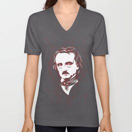 Edgar Allan Poe Circles Portrait Unisex V-Neck