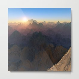 Mountain Pass Metal Print
