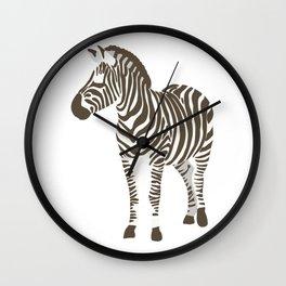 Trendy Zebra Flat Design  Wall Clock