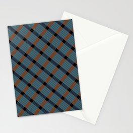 BLUE MONDAY PLAID Stationery Cards