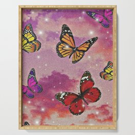 Aesthetic Butterflies Serving Tray