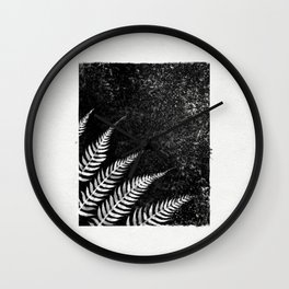 One With Surroundings    Ink Study Wall Clock