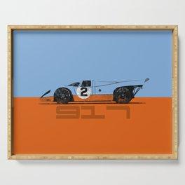Vintage Le Mans race car livery design - 917 Serving Tray