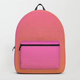 Pink to Orange Ombre Shaded Raspberry and Papaya Sorbet Ice Cream Gelato Backpack