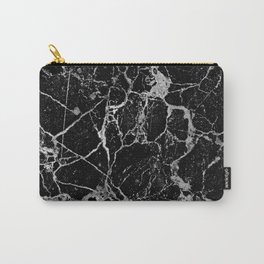 Black Marble with White Veining Carry-All Pouch