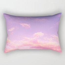 Cranberry Sky Pink Sunrise Print Rectangular Pillow