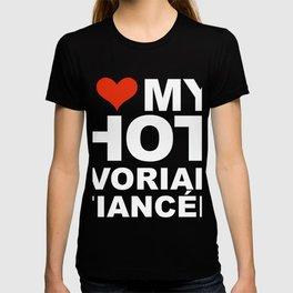 I Love my hot Ivorian Fiancee Engaged Engagement Ivory Coast T-shirt