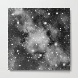 Black & White Galaxy Nebula Dream #1 #decor #art #society6 Metal Print