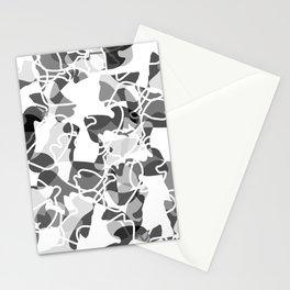 Geometric pattern (B&W) Stationery Cards