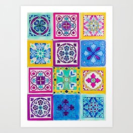 Bohemian Tiles Art Print