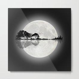 Moonlight Nature Guitar Metal Print