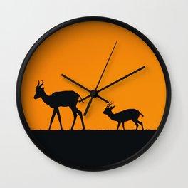 Sunset Gazelle Wall Clock