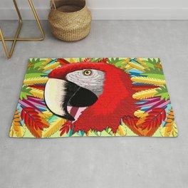 Macaw Parrot Paper Craft Digital Art Rug