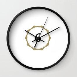 Vintage Number 6 Monogram Wall Clock