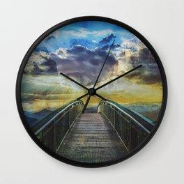 Bridge into the nature Colorful  Wall Clock