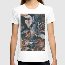 Vintage tropical forest hand drawn illustration pattern T-shirt
