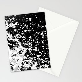 Black and White Grunge Design Stationery Cards