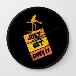 Track & Field - Hurdling - Sport - Just Get Over It Wall Clock