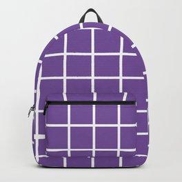 Purple Grid Pattern 2 Backpack