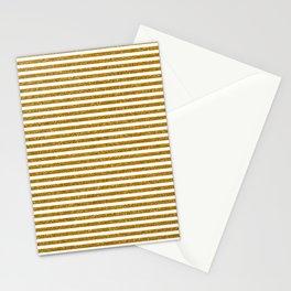 Gold Glitter Stripes Stationery Cards