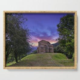 Church of Santa Cristina de Lena Oviedo, Asturias Spain.  Serving Tray