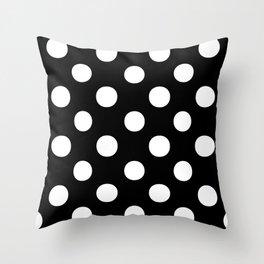 Polka Dots (White/Black) Throw Pillow