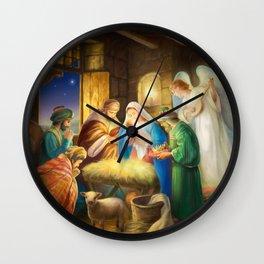 Nativity, holy night Wall Clock
