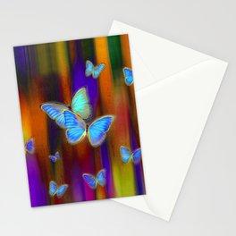 Silken Wings, Rainbow. Stationery Cards