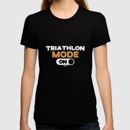 Triathlon competition fun gift T-shirt