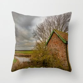 Claxton Pump House, Norfolk Broads Throw Pillow