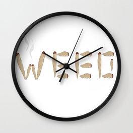 Smoking Weed Wall Clock