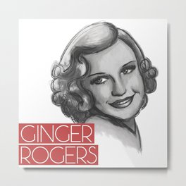 1930s Ginger Metal Print