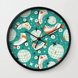 Roller Disco Aqua Wall Clock