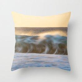 Sunset Shorebreak Throw Pillow