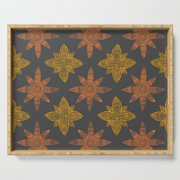 Stars Mandalas Pattern Serving Tray