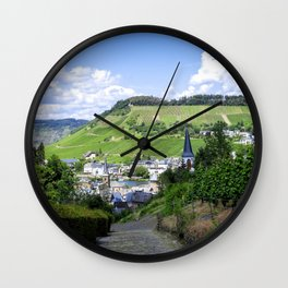 Traben-Trarbach as seen from above Wall Clock
