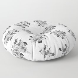 Abstract crystal pattern Floor Pillow