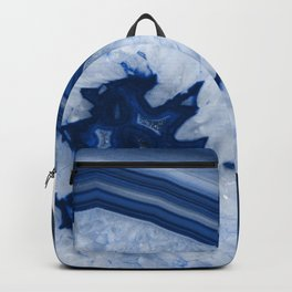 Blue Agate Chic #2a #gem #decor #art #society6 Backpack
