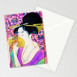 Kitagawa Utamaro - Woman With A Comb - Digital Remastered Edition Stationery Cards