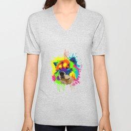 Splash Art Chow Chow Dog Lover Gift Idea Unisex V-Neck