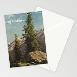 cartaz oberland bernois switzerland Stationery Cards