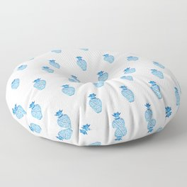Pattern Pineapples Ginger Jar Blue  Floor Pillow