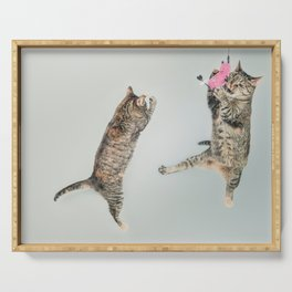 Les chats qui jouent! Serving Tray