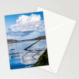 Cloudy Möhne Reservoir Lake 2 Stationery Cards