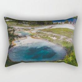 Bluebell Pool, West Thumb Geyser Basin, Yellowstone National Park Rectangular Pillow
