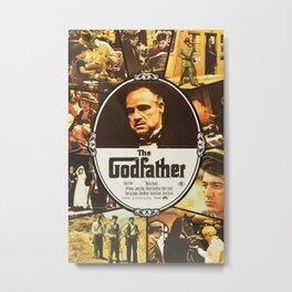 The Godfather, vintage movie poster Metal Print