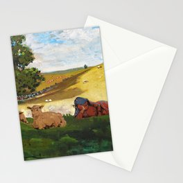 Winslow Homer1 - Warm Afternoon - Digital Remastered Edition Stationery Cards